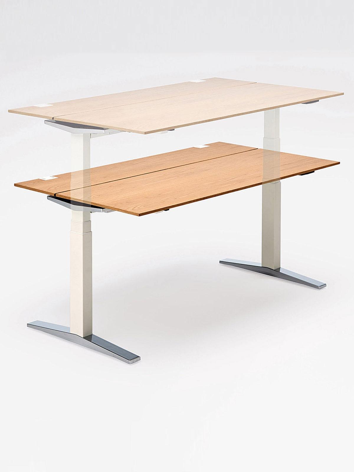 Table T Le Syst 232 Me De Tables De Bureau Assis Debout Avec